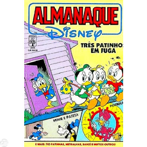 Almanaque Disney nº 209 out/1988 - Paul Murry