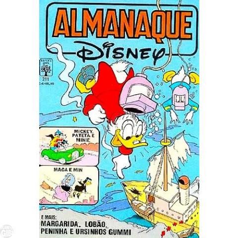Almanaque Disney nº 211 dez/1988 - Maga - Madame Min - Superpateta