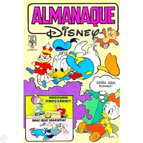 Almanaque Disney nº 212 jan/1989 - Fotografou... Dançou!
