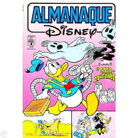 Almanaque Disney nº 214 mar/1989 - O Caça-Fantasmas