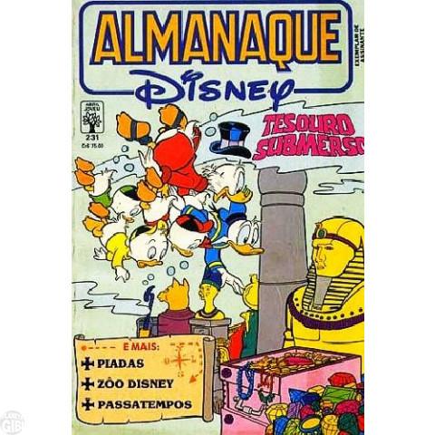 Almanaque Disney nº 231 ago/1990 - Tesouro Submerso - Vide Detalhes