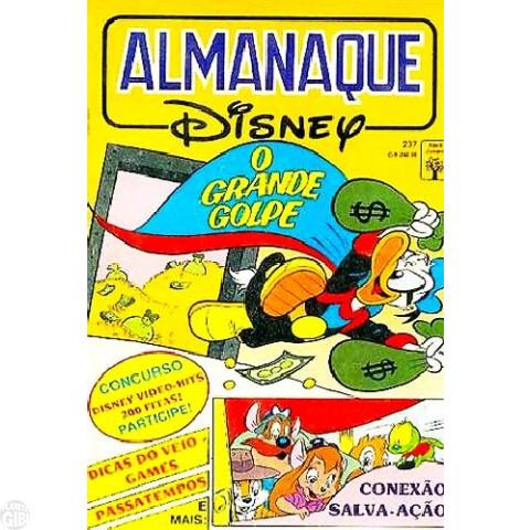 Almanaque Disney nº 237 fev/1991 - Superpato: O Grande Golpe