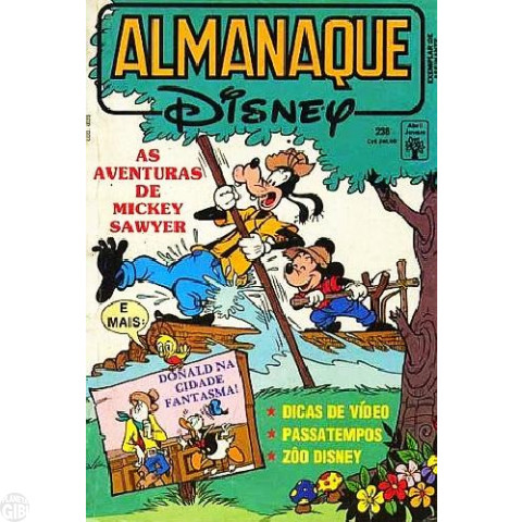 Almanaque Disney nº 238 mar/1991 - As Aventuras de Mickey Sawyer