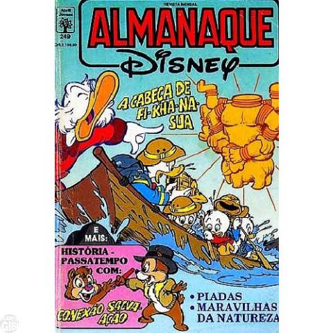 Almanaque Disney nº 249 fev/1992 - A Cabeça de Fi Kha Na Sua