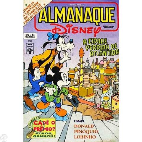 Almanaque Disney nº 257 nov/1992 - A Cidade Perdida de Atlântida