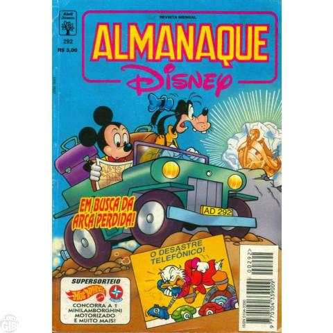 Almanaque Disney nº 292 nov/1995 - A Arca Perdida