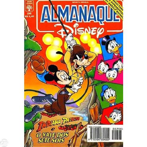 Almanaque Disney nº 298 mai/1996 - Indiana Pateta - Vale dos Sete Sóis