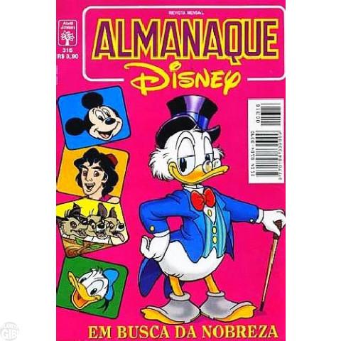 Almanaque Disney nº 316 nov/1997 - O Mistério da Lua Cheia