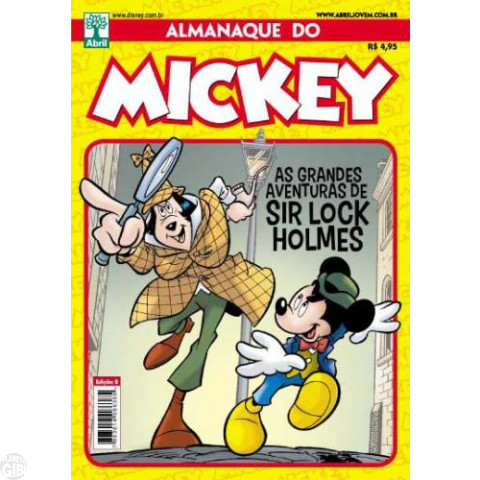 Almanaque do Mickey [2ª série] nº 008 jun/2012 - Especial Sir Lock Holmes