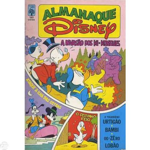 Almanaque Disney nº 163 dez/1984 - O Patinho Feio