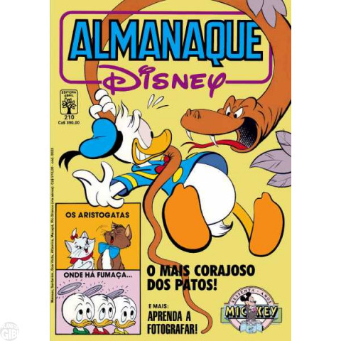 Almanaque Disney nº 210 nov/1988 - Superpateta - Aristogatas