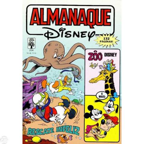Almanaque Disney nº 224 jan/1990 - Metralhas - Patacôncio