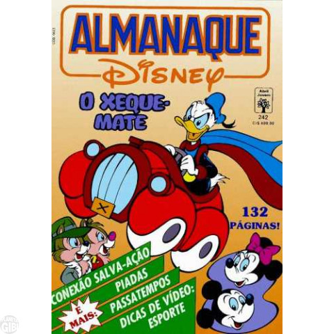 Almanaque Disney nº 242 jul/1991 - Superpato: O Xeque-Mate