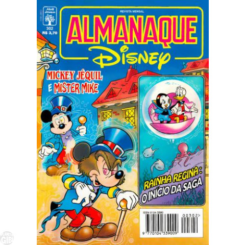 Almanaque Disney nº 302 set/1996 Aventura Submarina - Rainha Regina Estreia