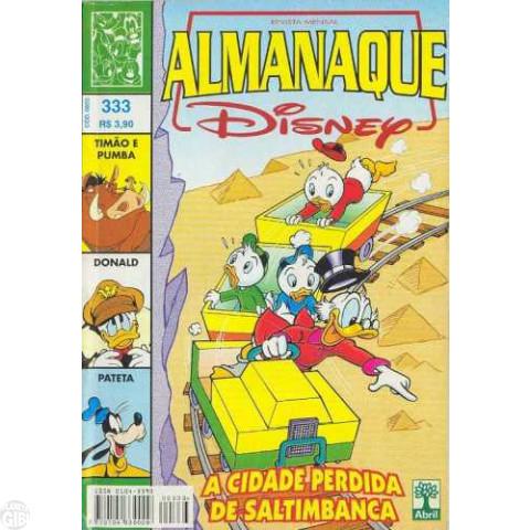 Almanaque Disney nº 333 abr/1999 - A Cidade Perdida