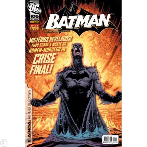 Batman [Panini - 1ª série] nº 106 set/2011