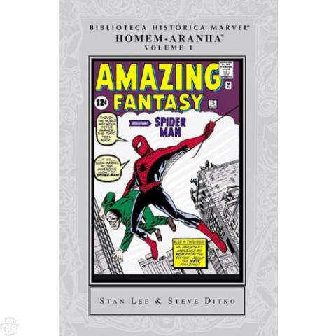 Biblioteca Histórica Marvel Homem-Aranha [Panini] nº 001 jul/2007 - Capa Dura - Lacrado