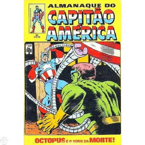 Capitão América [Abril - 1ª série] nº 061 jun/1984 -  - Com Dicionário Marvel Letra M