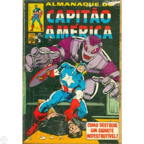 Capitão América [Abril - 1ª série] nº 067 dez/1984 Com Dicionário Marvel Letra S - Vide Detalhes