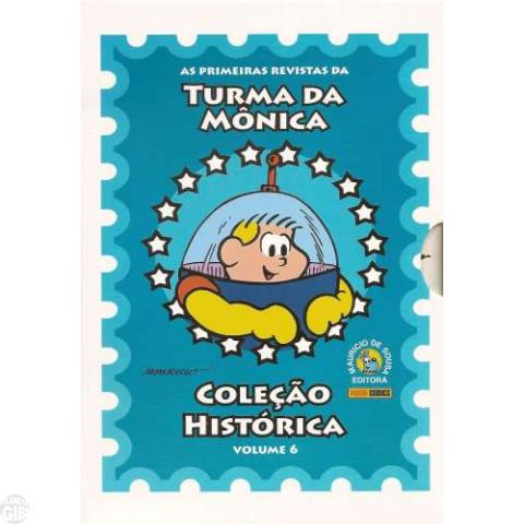 Coleção Histórica Turma da Mônica nº 006 jul/2008 - Box + 5 revistas