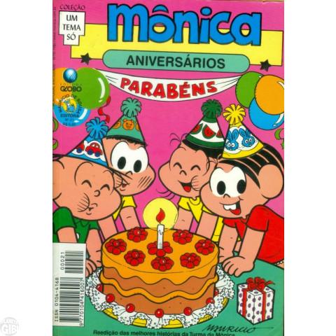 Coleção Um Tema Só [Globo] nº 021 ago/1998 - Mônica Aniversários