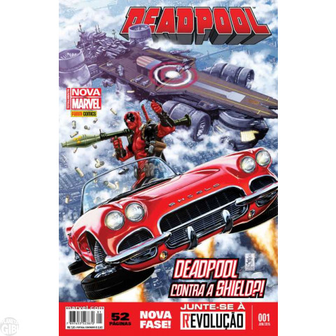 Deadpool [Panini - 3ª série - Totalmente Nova Marvel] nº 001 jun/2015 - Contra a Shield?!