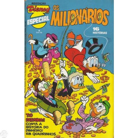 Disney Especial Reedição nº 008 dez/1981 - Os Milionários - Vide Detalhes