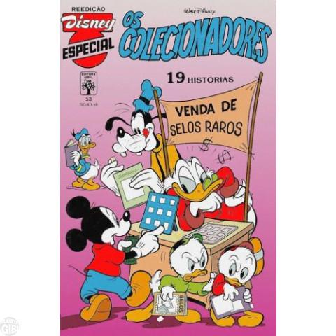Disney Especial Reedição nº 053 ago/1989 - Os Colecionadores - Vide detalhes