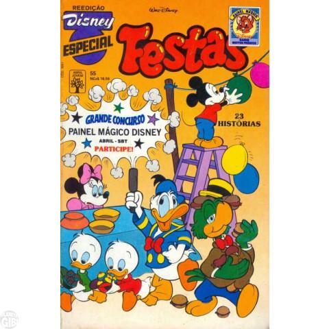 Disney Especial Reedição nº 055 dez/1989 - Festas