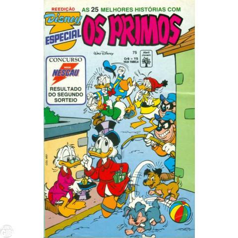 Disney Especial Reedição nº 075 jun/1993 - Os Primos