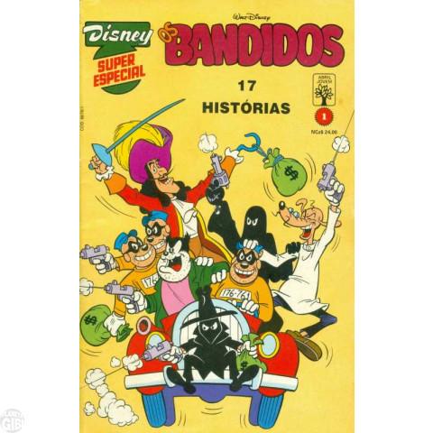 Disney Superespecial nº 001 jan/1990 - Os Bandidos - Edição Rara