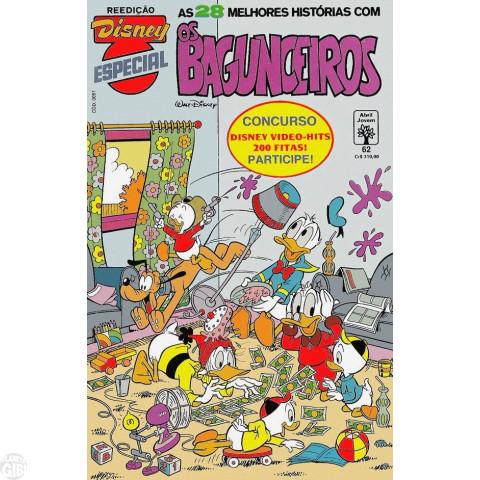 Disney Especial Reedição nº 062 fev/1991 - Os Bagunceiros