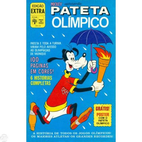Edição Extra nº 052 ago/1972 - Pateta Olímpico - Vide detalhes
