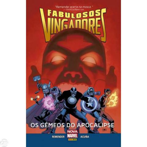Fabulosos Vingadores Os Gêmeos do Apocalipse [Coleção Nova Marvel nº  010] fev/2016 Capa Dura