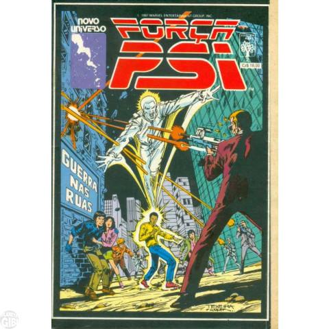 Força Psi [Abril] nº 002 ago/1987 - Guerra nas Ruas (Acompanha Selo Poster)