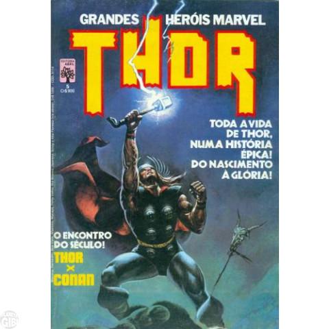 Grandes Heróis Marvel [Abril - 1ª série] nº 005 set/1984 - Thor - Vide Detalhes