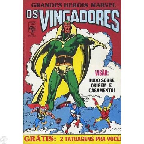 Grandes Heróis Marvel [Abril - 1ª série] nº 010 dez/1985 - Os Vingadores
