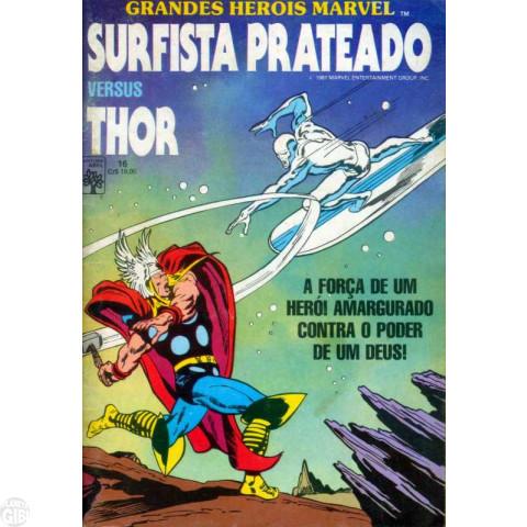 Grandes Heróis Marvel [Abril - 1ª série] nº 016 jun/1987 - Surfista Prateado Versus Thor