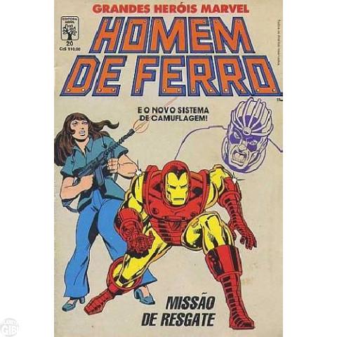 Grandes Heróis Marvel [Abril - 1ª série] nº 020 jun/1988 - Homem de Ferro