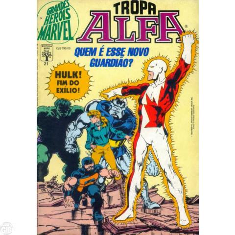 Grandes Heróis Marvel [Abril - 1s] nº 021 set/1988 - Tropa Alfa