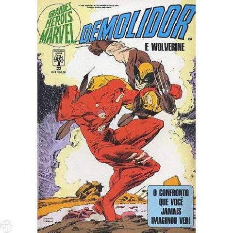 Grandes Heróis Marvel [Abril - 1s] nº 022 dez/1988 - Demolidor e Wolverine