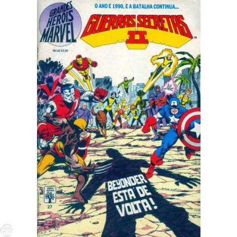 Grandes Heróis Marvel [Abril - 1s] nº 027 mar/1990 - Guerras Secretas II