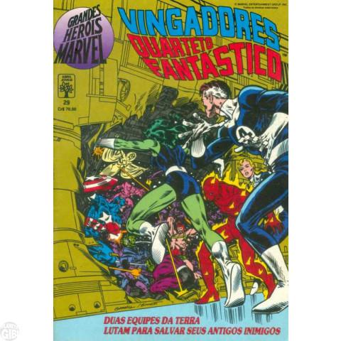 Grandes Heróis Marvel [Abril - 1ª série] nº 029 set/1990 - Vingadores Quarteto Fantástico