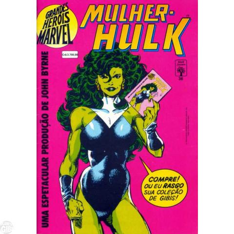 Grandes Heróis Marvel [Abril - 1ª série] nº 036 jun/1992 - Mulher-Hulk