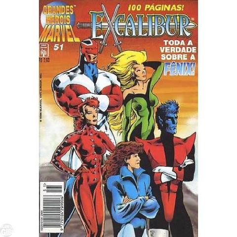 Grandes Heróis Marvel [Abril - 1ª série] nº 051 mar/1996 - Excalibur