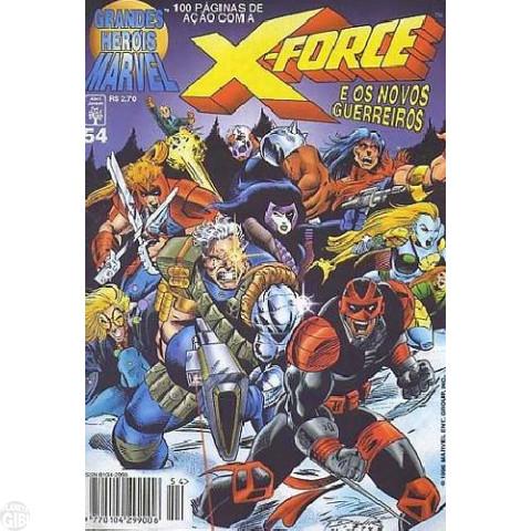Grandes Heróis Marvel [Abril - 1ª série] nº 054 dez/1996 - X-Force e Os Novos Guerreiros