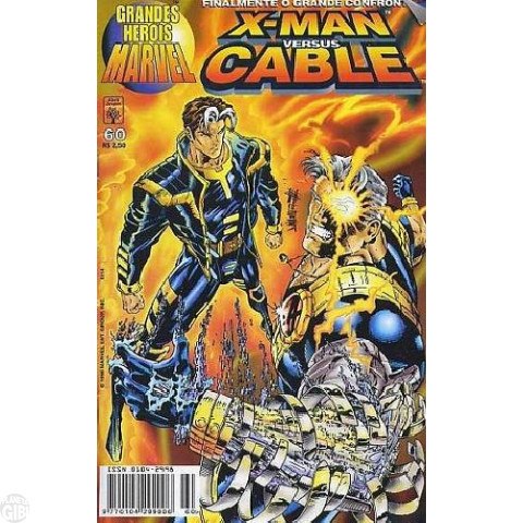 Grandes Heróis Marvel [Abril - 1s] nº 060 jun/1998 - X-Man Versus Cable