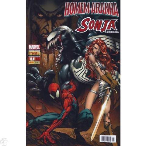 Homem-Aranha e Sonja A Guerreira [Panini - 1ª série] nº 001 e nº 002 set-out/2008 - Minissérie Completa