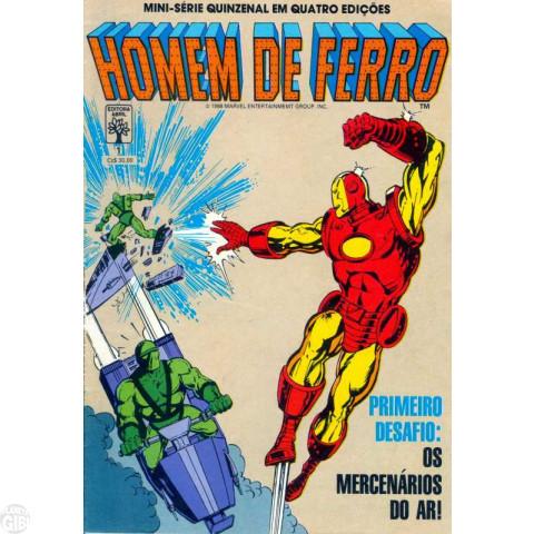 Homem de Ferro [Abril - Minissérie] nº 001 a 004 jan-fev/1988 - Completa