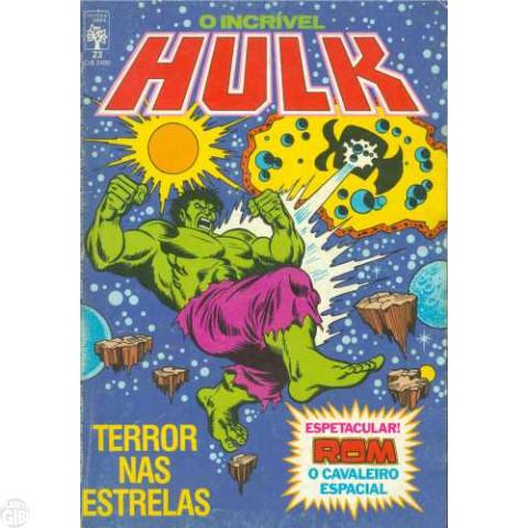 Incrível Hulk [Abril - 1ª série] nº 023 mai/1985